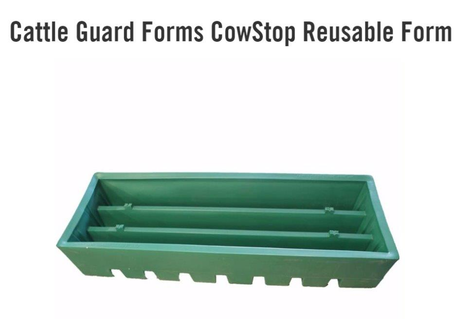 NEW!! REUSABLE Cattle Guard Concrete Forms - The Patented CowStop!