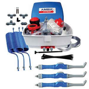 Ambic JetStream Teat Sprayer w/ 3 Button Style Guns