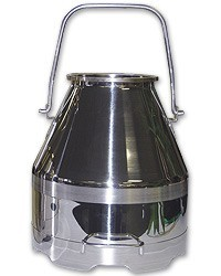 50# Deluxe SS Milker Bucket w/Short Handle