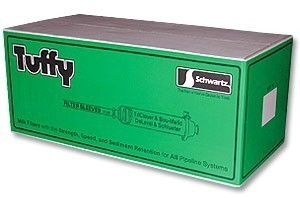 "Schwartz 4-7/8""x33-1/2"" Tuffy Filter Socks--9 Boxes of 50"