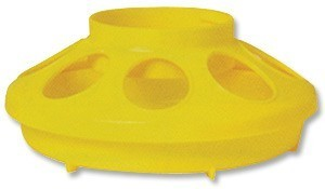 Yellow 1qt. Chick Bird Feeder Base - Case of 12