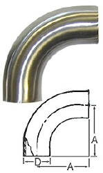 90-Degree Bend (Weld/Weld)--4""