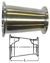 "Concentric Reducer (Clamp/Clamp)--4"" to 2.5"""