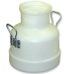 40# (18 Kg) Poly Milk Bucket w/ Storage Lid & 2 Handles