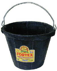 Fortex 10 Qt. Rubber Pail CS12