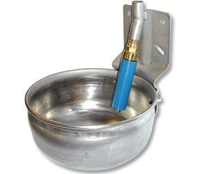 Large Round Stainless Steel Super Flow Water Bowl