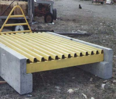 Heavy Duty HS25 Cattleguard 10' x 8' - 6 Beam
