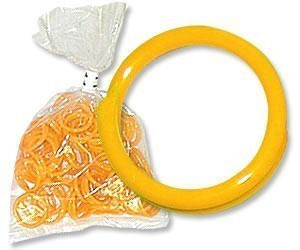 "Yellow Poultry Bands--14/16"" ID--pkg/50"