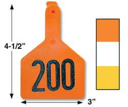 Z-Tag Cow Eartags PK25