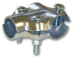 "1 5/8"" Round X 2"" Round 3-Bolt Tee Clamp"