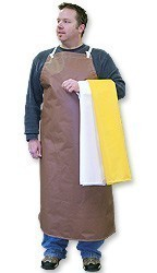"Brown Nitrile Apron 36"" x 45"""