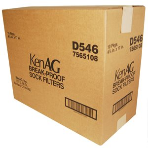"KenAg 4-7/8""x17"" Breakproof Sock--10 Boxes of 50"