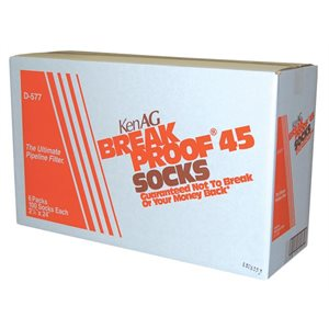 "KenAg 2-1/4""x24"" Breakproof Sock--6 Boxes of 100"