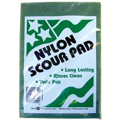 Green Scour Pad--2-Pack