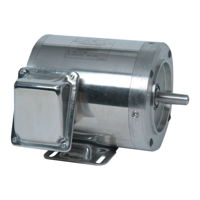 1hp 3 phase ss washguard motor 56hc frame w 5 8 shaft for 1hp 3 phase motor