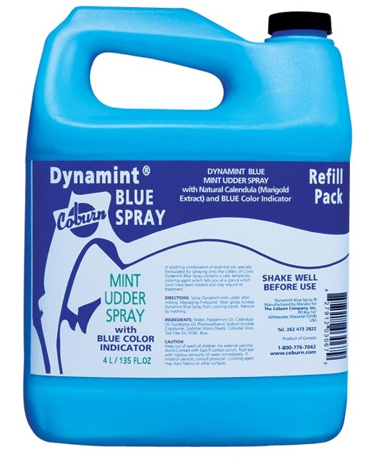Dynamint Blue Udder Spray 4L Refill
