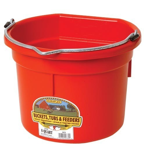 Flat Backed 8 Quart Wall Bucket