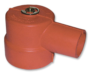 Red Rubber Cap w/Bushing for Cattle Pump System