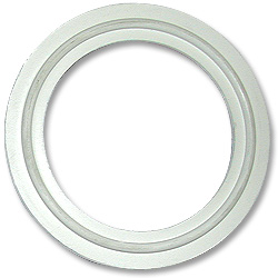 White Flanged Gasket--2.5""