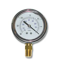 Glycerine Bottom-Mount Gauge w/ 0-30 In/KPA