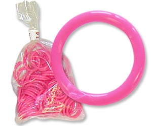 "Pink Poultry Bands--9/16"" ID--Pkg/50"