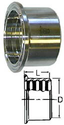 Plain Recessless Ferrule--4""