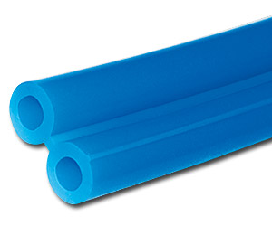 "9/32"" Blue Custom-Cut Twin Silicone Vacuum Tubing--Foot"