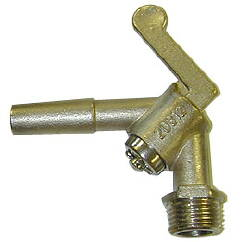 Threaded Angle Brass Pneumatic Stallcock--1/2""