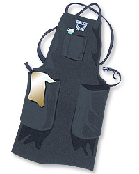 Full Waterproof Apron w/Two Pockets--Medium