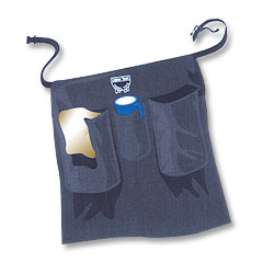 Cloth Towel Half Apron w/2 Pockets & Holster Pocket