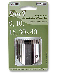 Adjustable Blade Set f/Wahl Clipper--Coarse