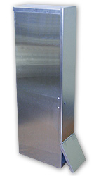 "Stainless Steel Vertical Dispenser f/ 24"" Socks"