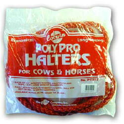 Bulk Bagged Polypro Cow Halter--Red PK12