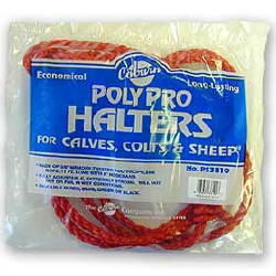 Bagged Polypro Calf Halter--Red CS12