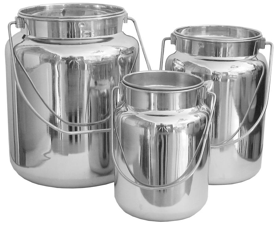 Milk Carrying Can with Lid - 2, 5 and 10 Quart