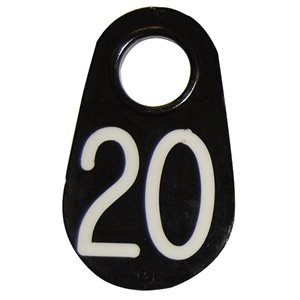Coburn Neck Tag - Engraved with White Numbers