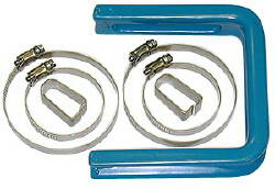 Plastic Coated U-Hanger w/4 Clamps, 2 Clips-Bagged