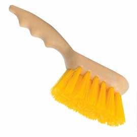"9"" Poly Block Gong Brush w/Yellow Bristles"