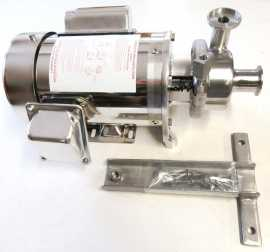 D-Style floor mount milk pump with 1.5 HP 1 phase Sterling