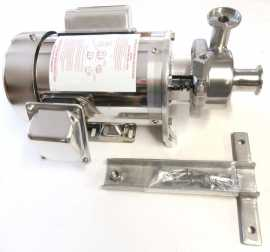 D-Style floor mount milk pump with 1.5 HP 3 phase motor