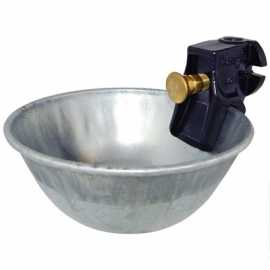 Push-Button Waterer w/ Galvanized Bowl