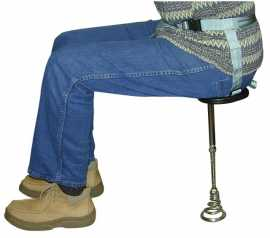 Adjustable Strap-On Milk Stool--Boxed