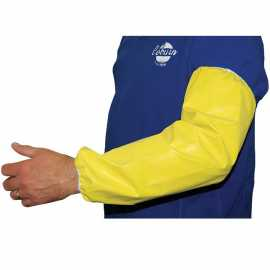Yellow Neoprene Milking Sleeve w/Gathered Cuff (Pair)