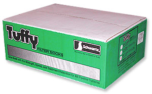 "Schwartz 2-3/4""x23-1/2"" Tuffy Filter Socks--5 Boxes of"