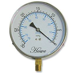 Bottom Mount Vacuum Gauge w/ 0-30 In/KPA--SS
