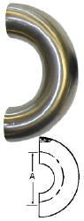 180-Degree U-Bend (Weld/Weld)--2.5""