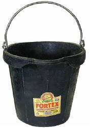 Fortex 18 Qt. Rubber Pail CS12