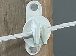 White Wood or Vinyl Post Insulator--pkg/25