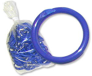 "Blue Poultry Bands--11/16"" ID--Pkg/50"