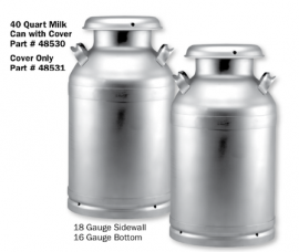 10 Gallon Stainless Steel Milk Can with Mushroom Cover
